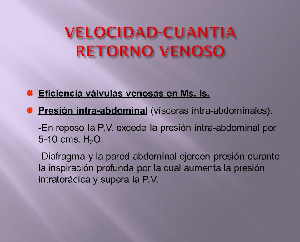 VELOCIDAD-CUANTIA RETORNO VENOSO