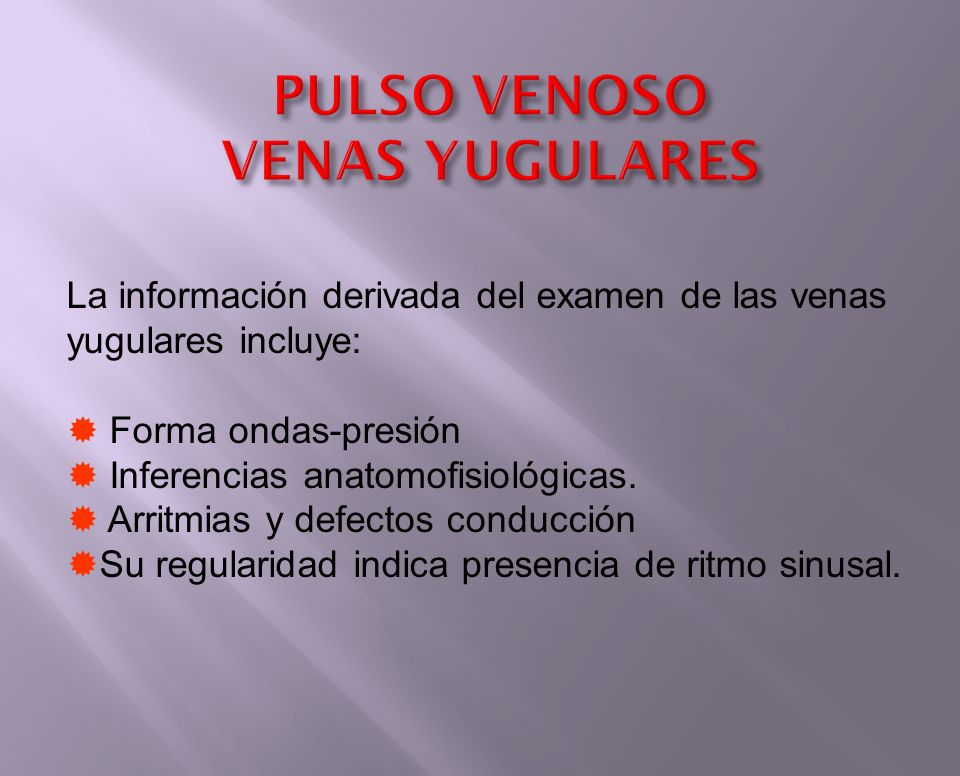 PULSO VENOSO VENAS YUGULARES