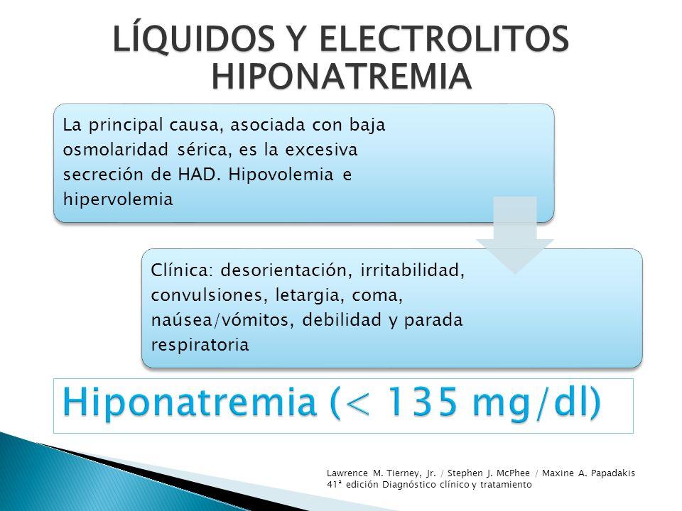 Hiponatremia (< 135 mg/dl)