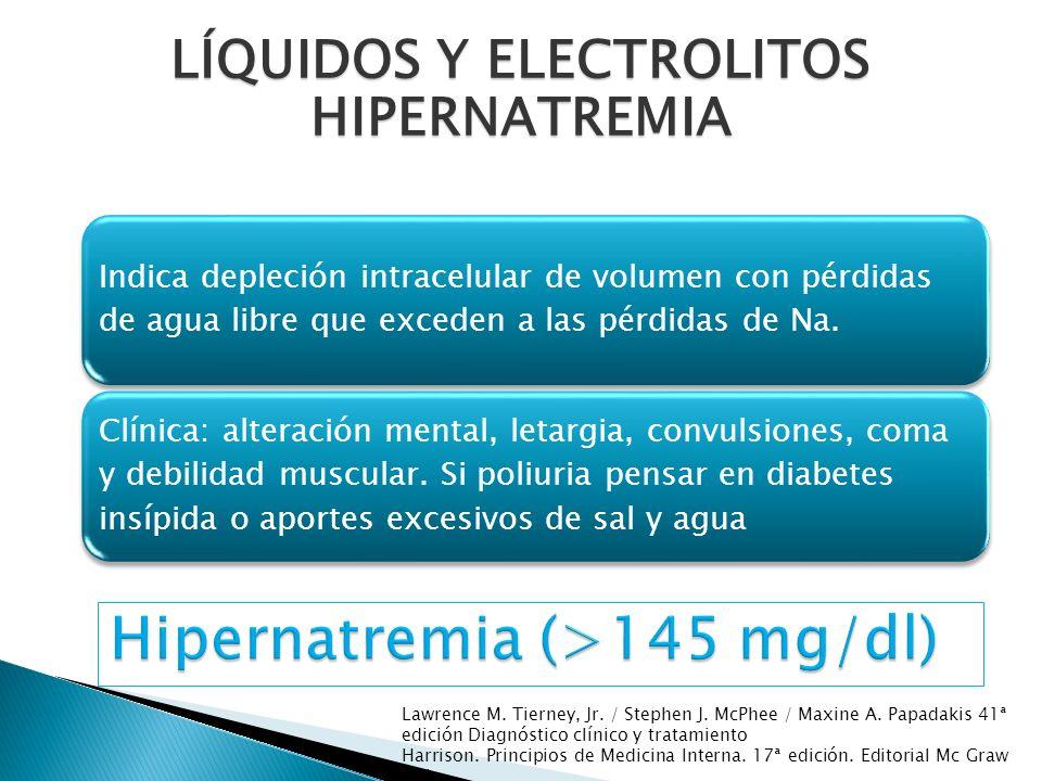 Hipernatremia (>145 mg/dl)