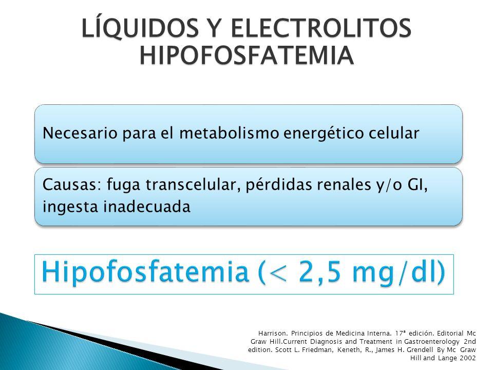 Hipofosfatemia (< 2,5 mg/dl)