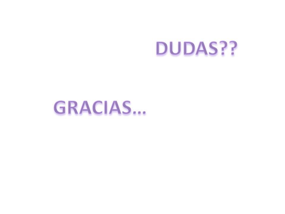 DUDAS GRACIAS…