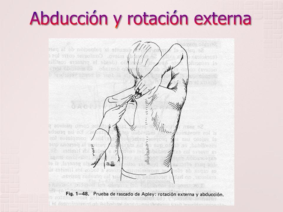 Abducción y rotación externa