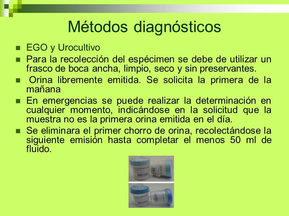Métodos diagnósticos EGO y Urocultivo