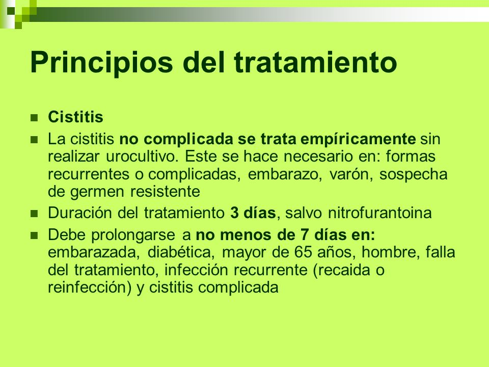 Principios del tratamiento