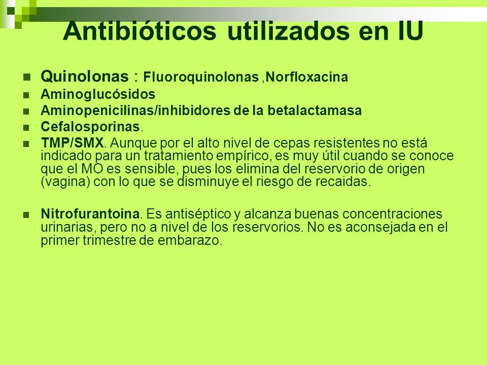 Antibióticos utilizados en IU