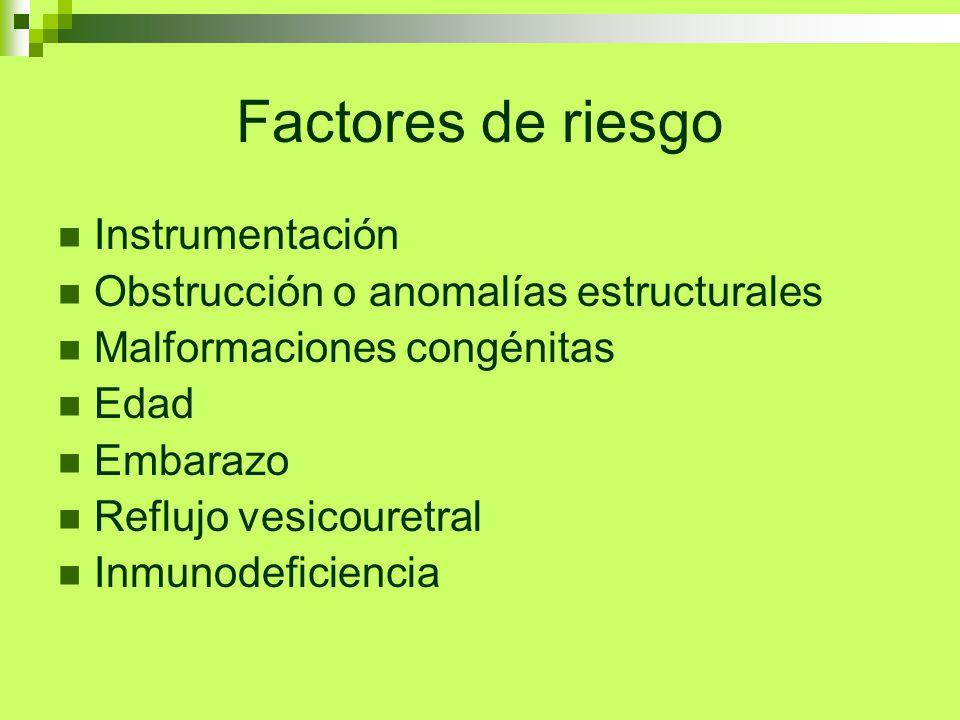 Factores de riesgo Instrumentación