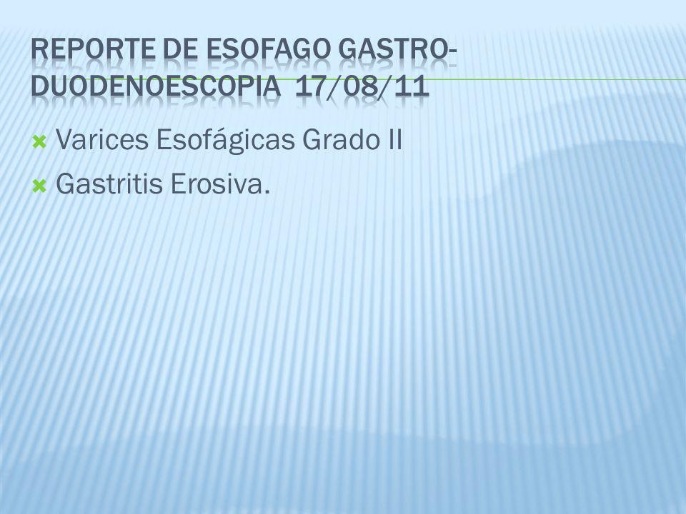 Reporte de esofago gastro-duodenoescopia 17/08/11
