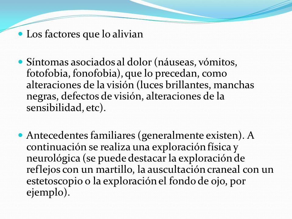 Los factores que lo alivian