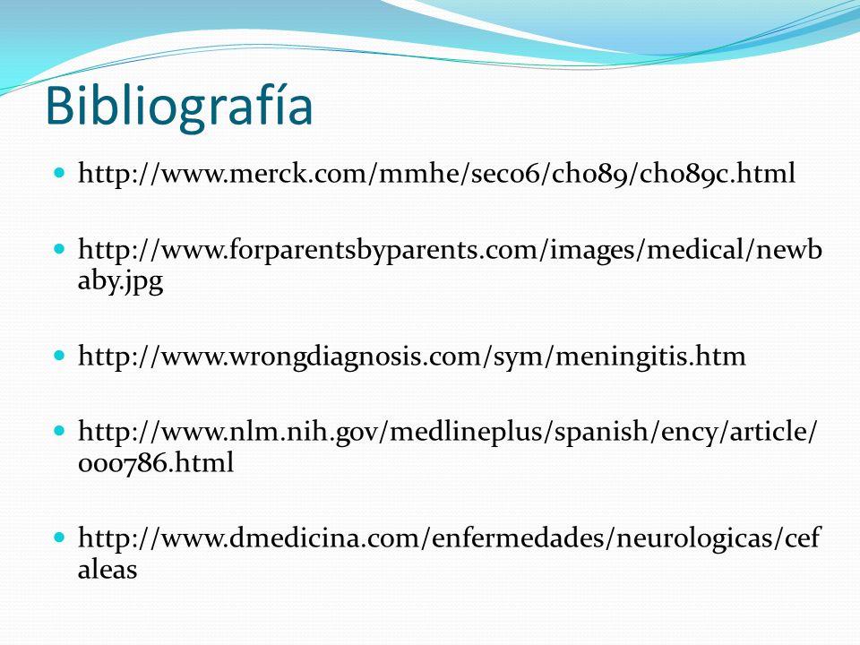 Bibliografía http://www.merck.com/mmhe/sec06/ch089/ch089c.html