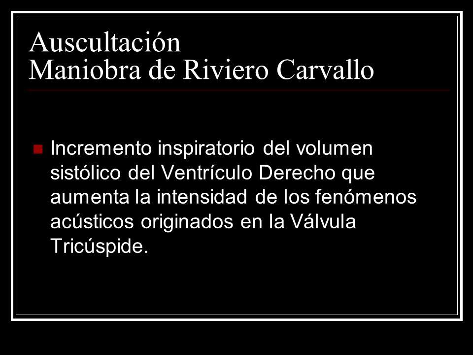 Auscultación Maniobra de Riviero Carvallo