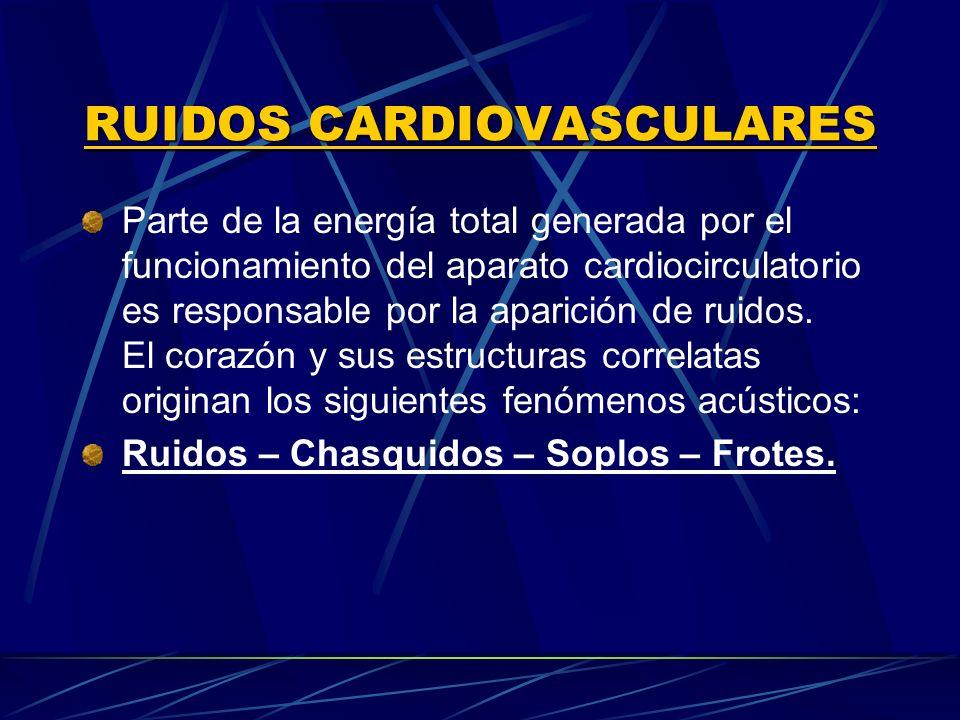 RUIDOS CARDIOVASCULARES