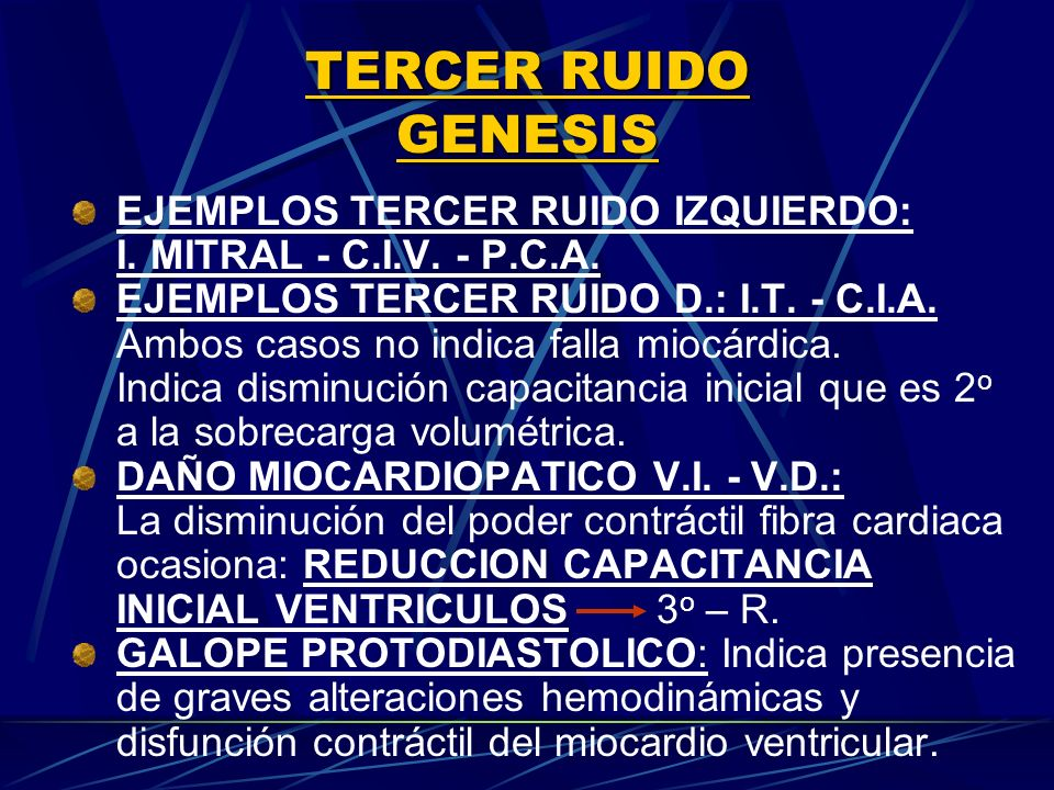 TERCER RUIDO GENESIS EJEMPLOS TERCER RUIDO IZQUIERDO: