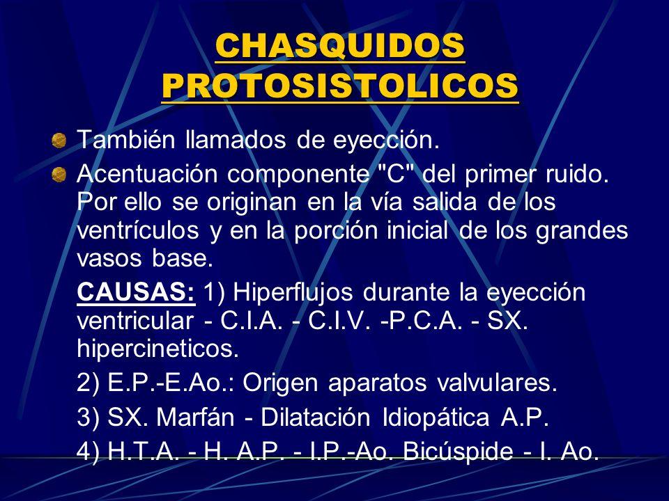 CHASQUIDOS PROTOSISTOLICOS