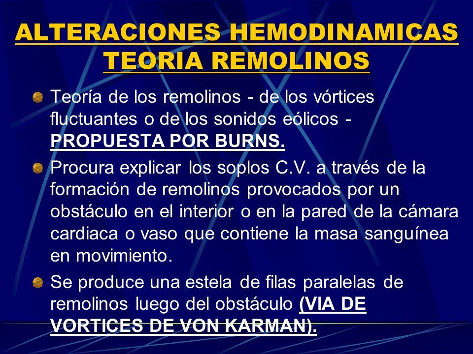 ALTERACIONES HEMODINAMICAS TEORIA REMOLINOS