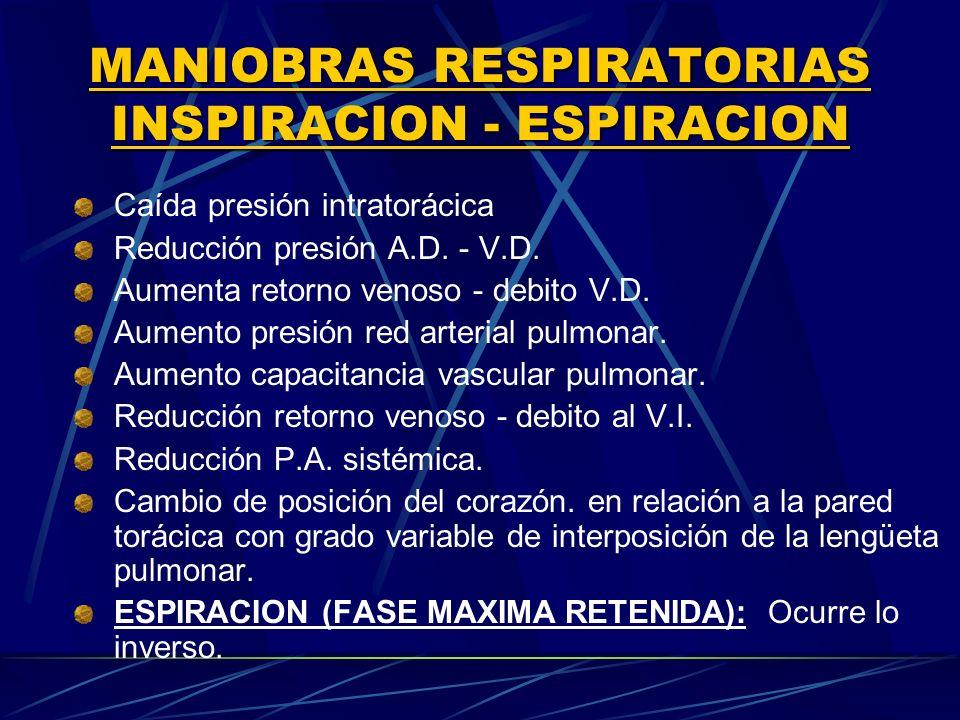 MANIOBRAS RESPIRATORIAS INSPIRACION ‑ ESPIRACION