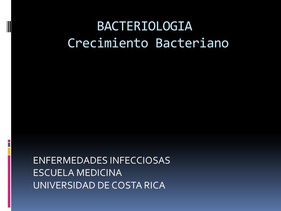 BACTERIOLOGIA Crecimiento Bacteriano