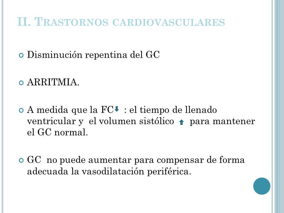 II. Trastornos cardiovasculares