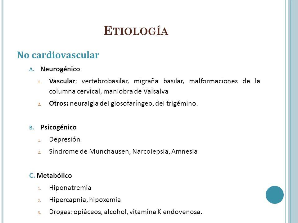 Etiología No cardiovascular Neurogénico