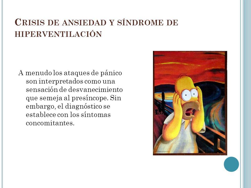 Crisis de ansiedad y síndrome de hiperventilación