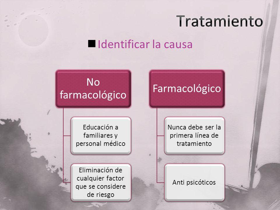 Tratamiento Identificar la causa No farmacológico