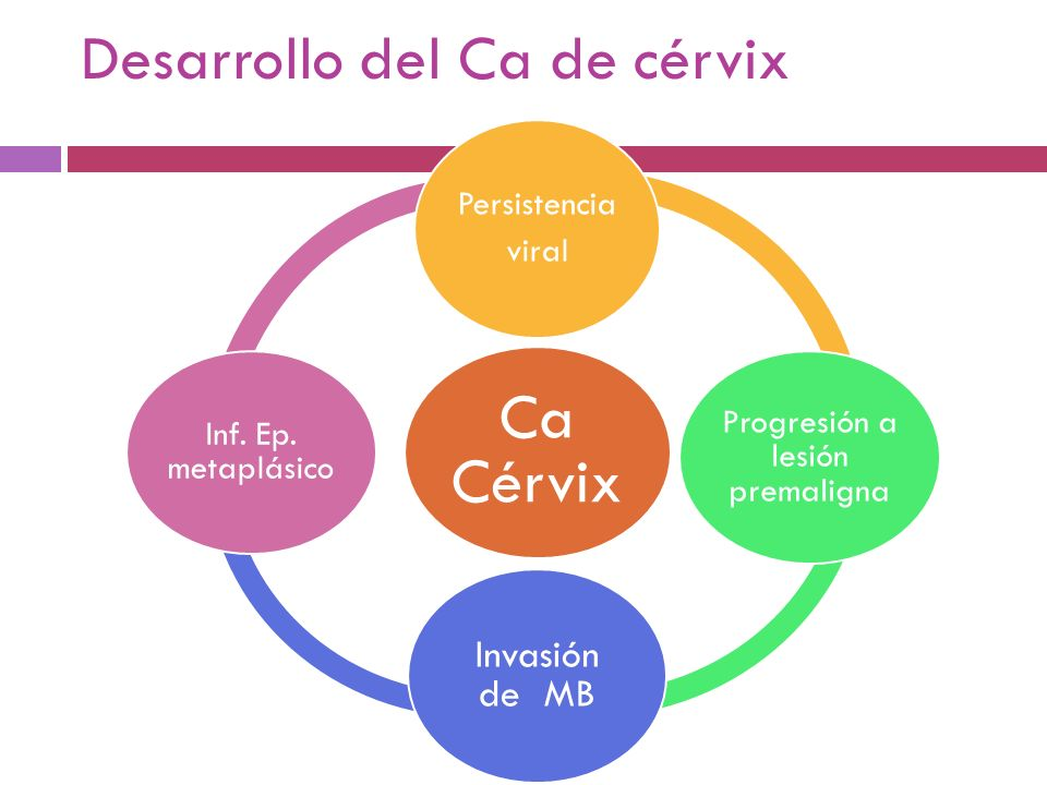 Desarrollo del Ca de cérvix