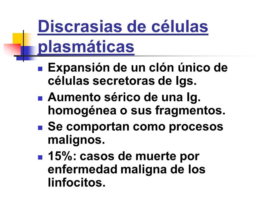 Discrasias de células plasmáticas