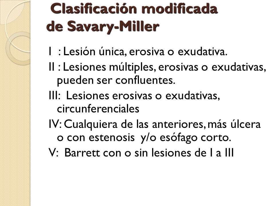 Clasificación modificada de Savary-Miller