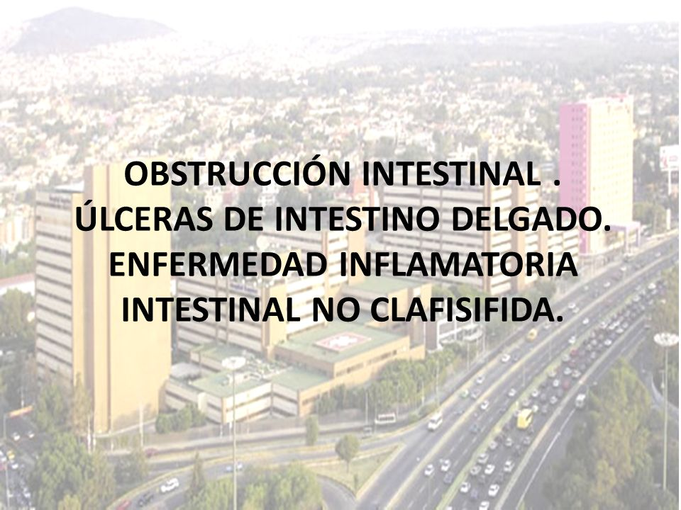 OBSTRUCCIÓN INTESTINAL. ÚLCERAS DE INTESTINO DELGADO