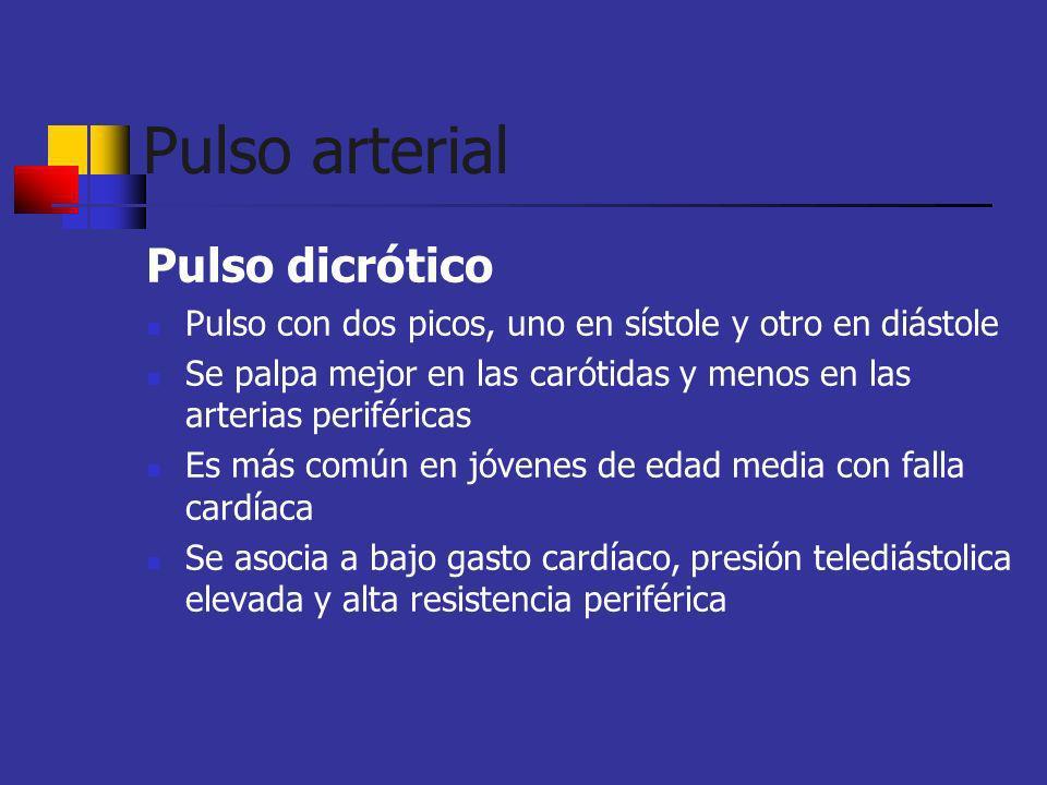 Pulso arterial Pulso dicrótico