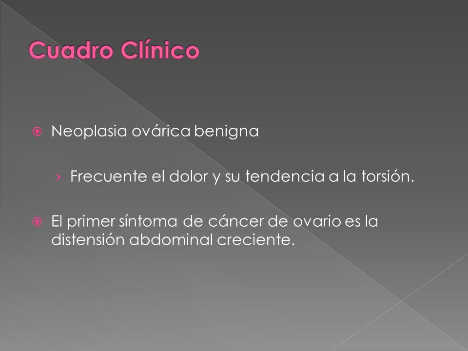 Cuadro Clínico Neoplasia ovárica benigna