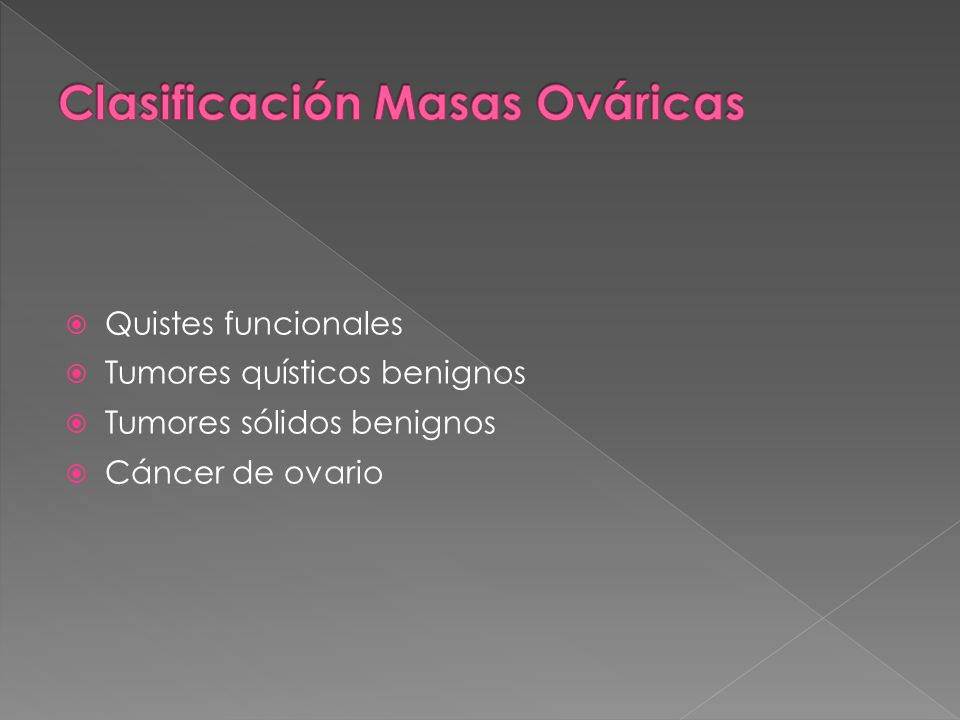 Clasificación Masas Ováricas