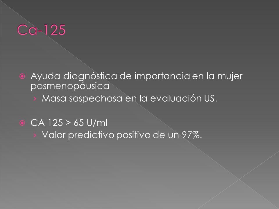 Ca-125 Ayuda diagnóstica de importancia en la mujer posmenopáusica