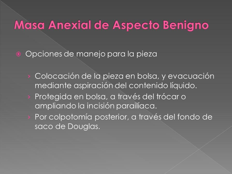 Masa Anexial de Aspecto Benigno