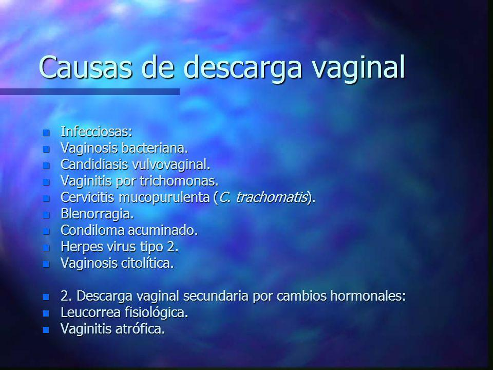 Causas de descarga vaginal