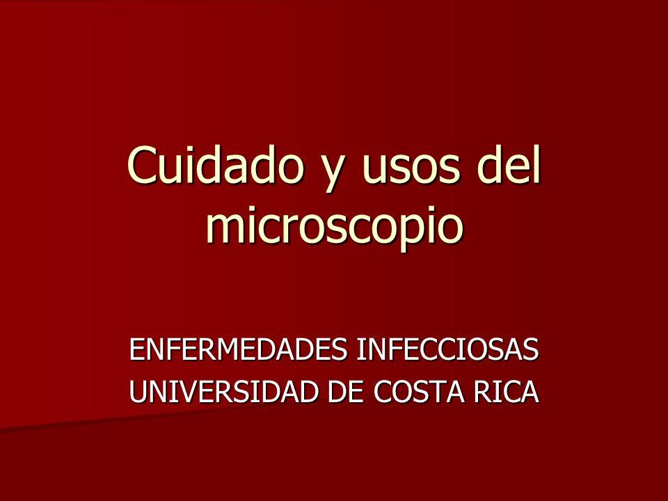 Cuidado y usos del microscopio