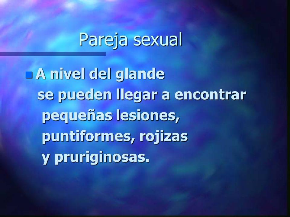 Pareja sexual A nivel del glande se pueden llegar a encontrar