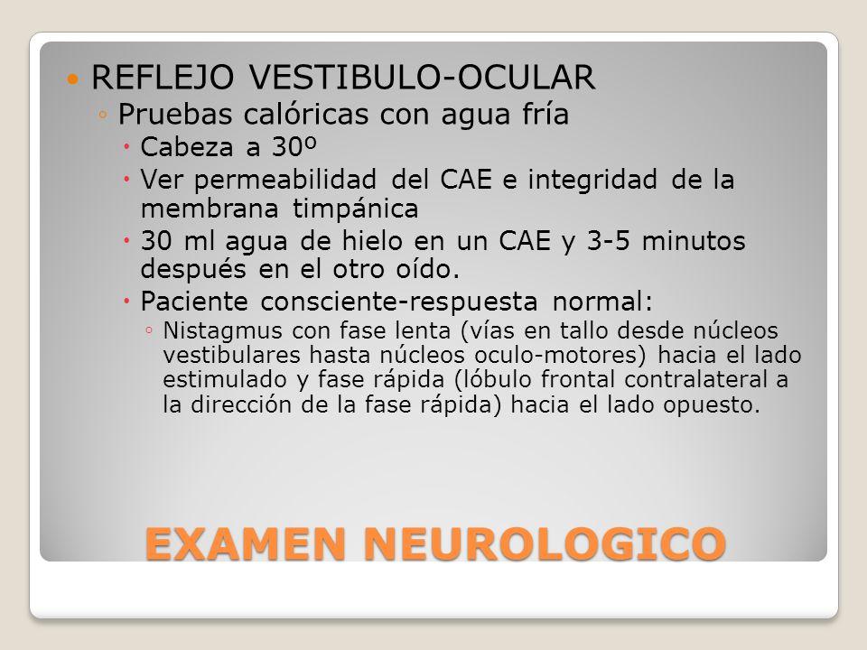 EXAMEN NEUROLOGICO REFLEJO VESTIBULO-OCULAR