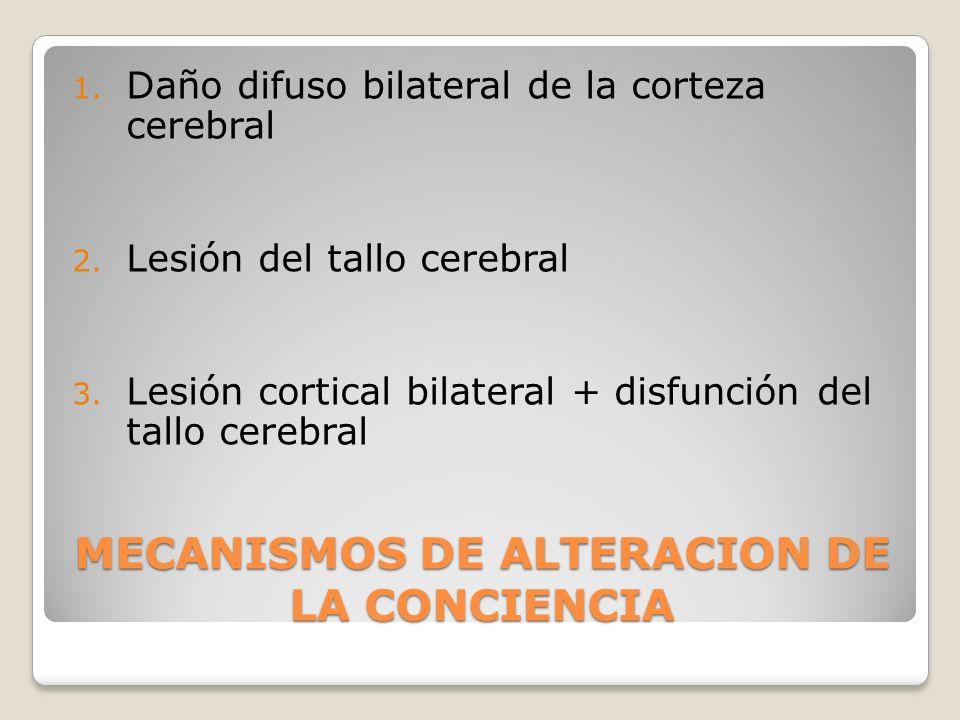 MECANISMOS DE ALTERACION DE LA CONCIENCIA