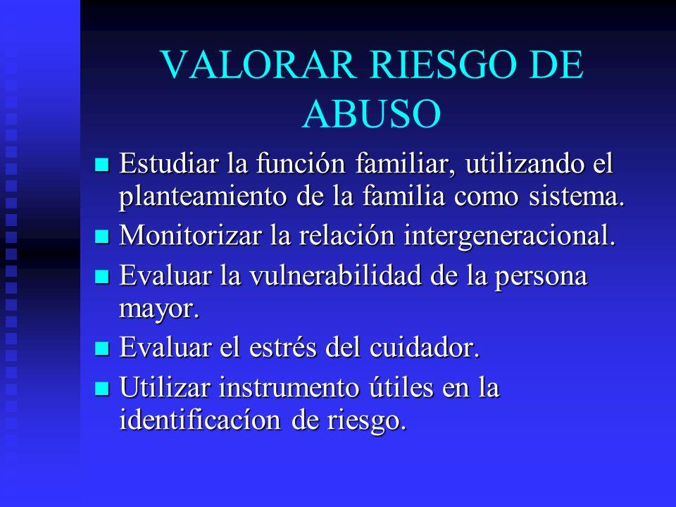 VALORAR RIESGO DE ABUSO