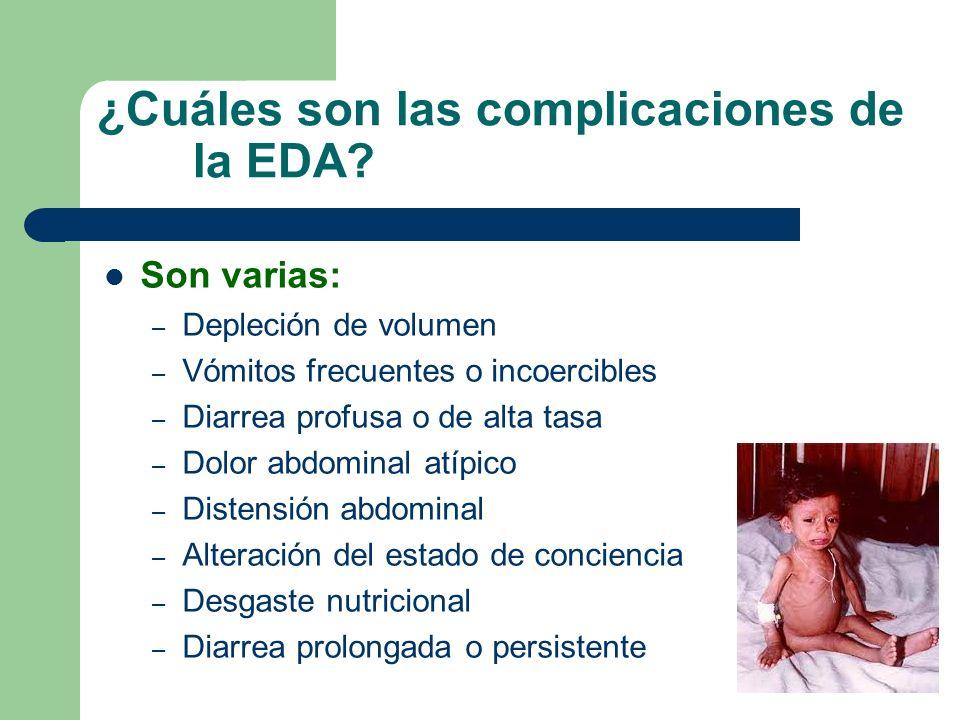 ¿Cuáles son las complicaciones de la EDA