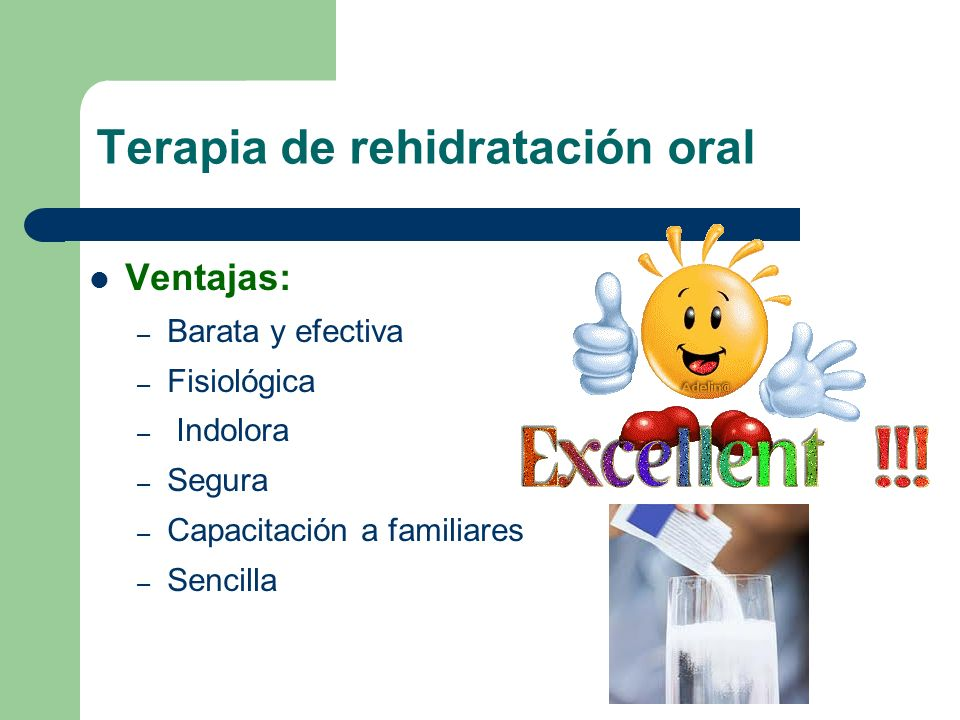 Terapia de rehidratación oral