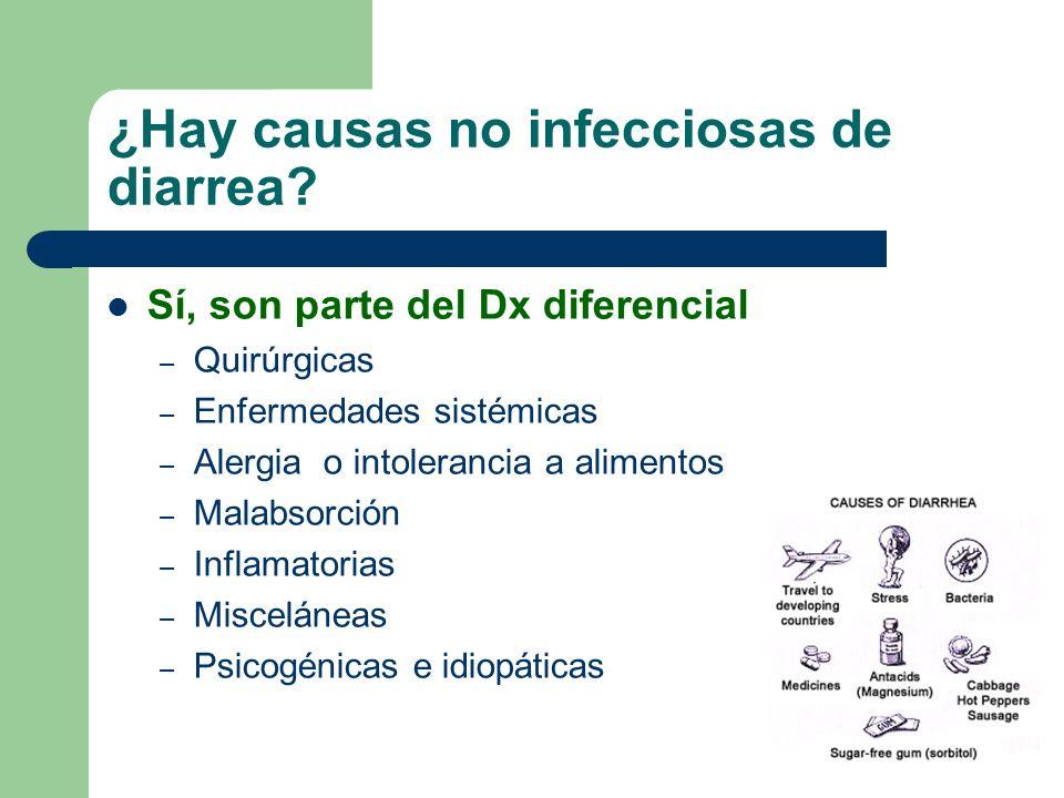 ¿Hay causas no infecciosas de diarrea