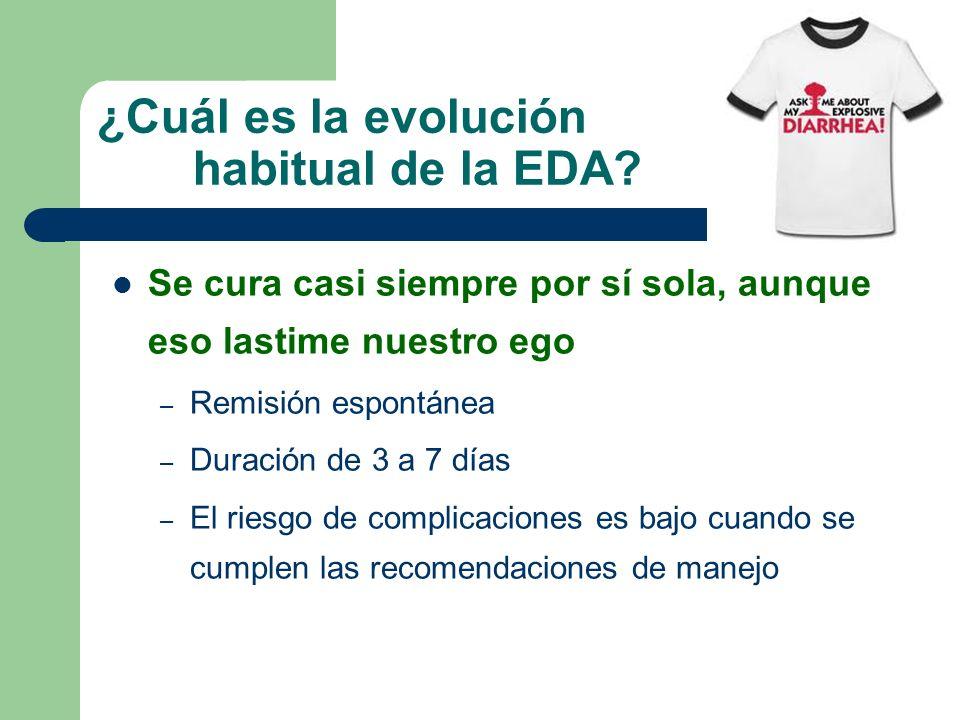 ¿Cuál es la evolución habitual de la EDA