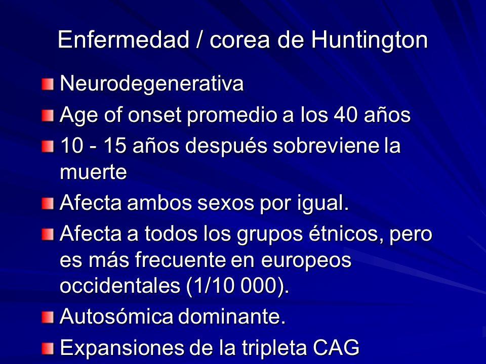Enfermedad / corea de Huntington