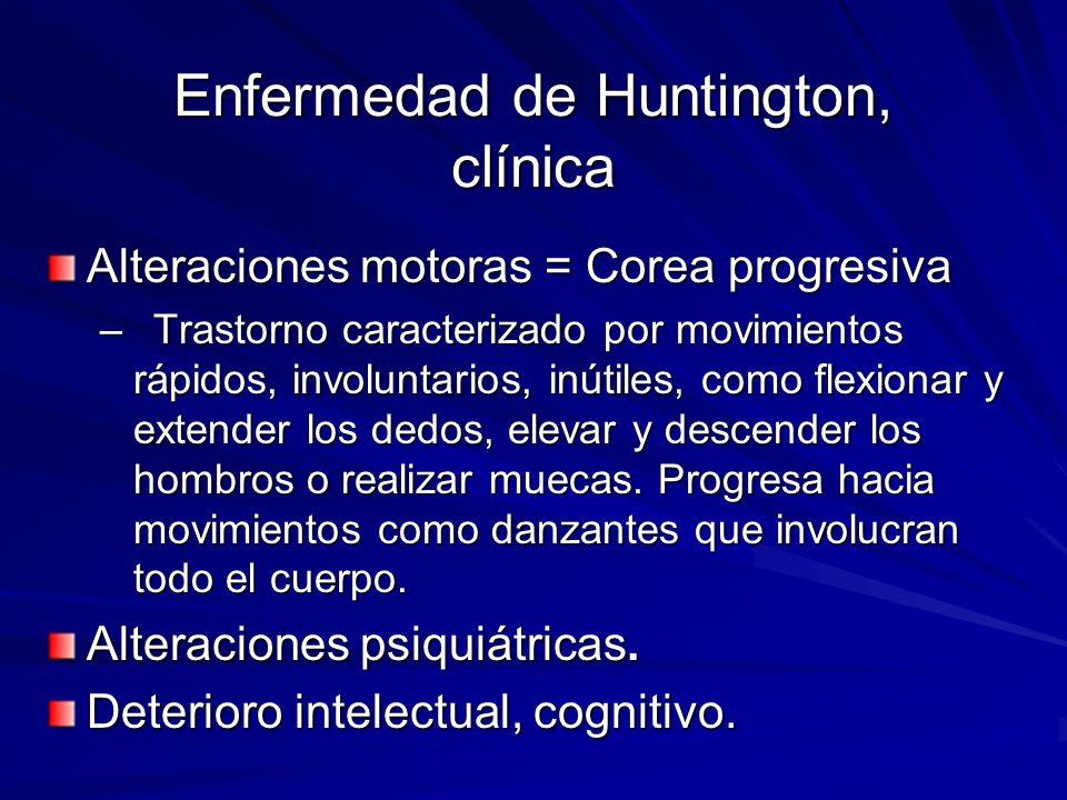 Enfermedad de Huntington, clínica