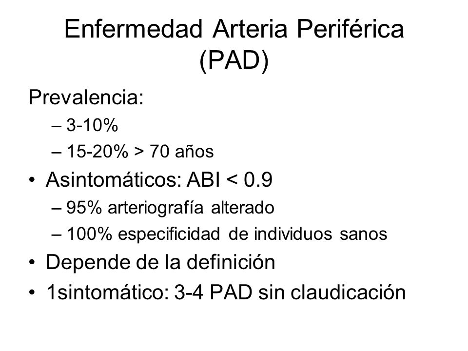 Enfermedad Arteria Periférica (PAD)
