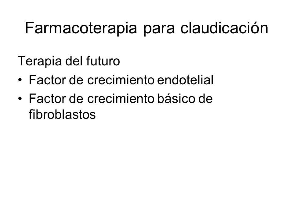 Farmacoterapia para claudicación