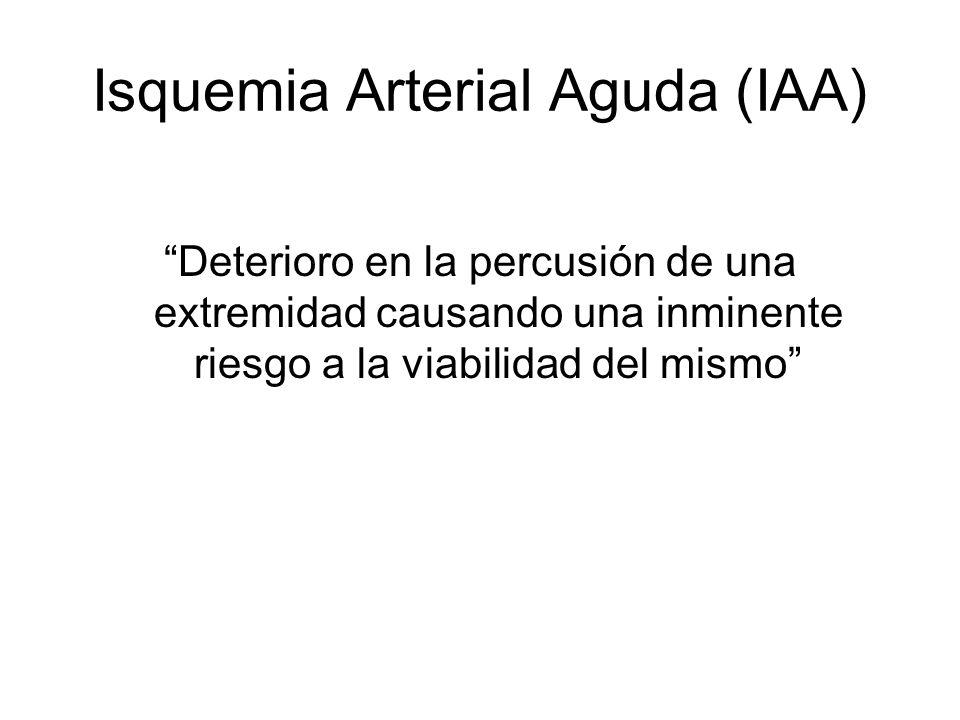 Isquemia Arterial Aguda (IAA)
