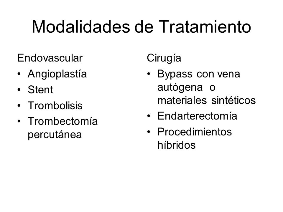 Modalidades de Tratamiento